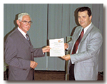 Prof. Dr. Erich Thenius received the certificate of honorary membership of the GfBS from Prof. Dr. Gerhard Haszprunar